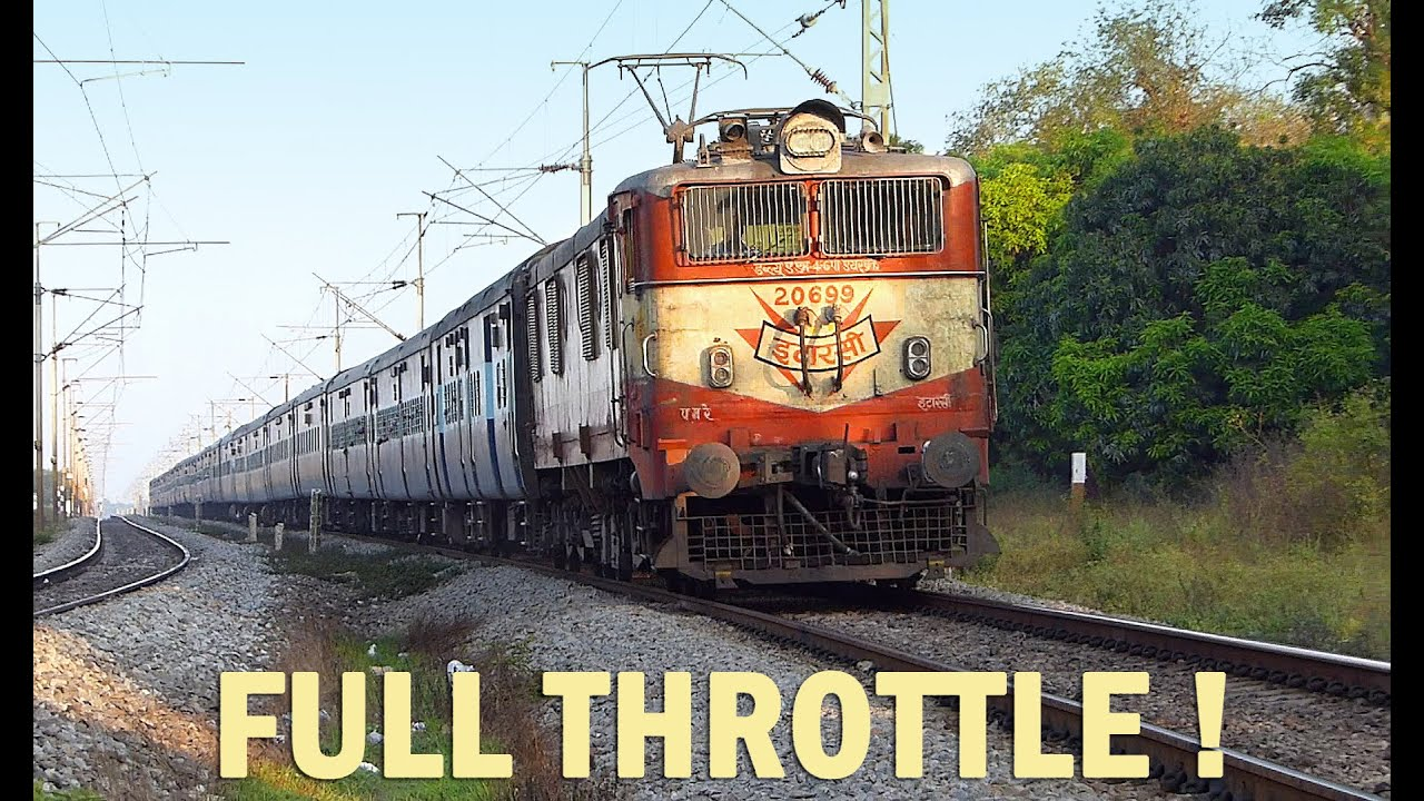 Train Engine At Full Throttle Oldest Electric Locomotive Indian Railways