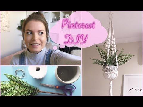 Pinterest Inspired DIY Macramé Plant Hanger!!