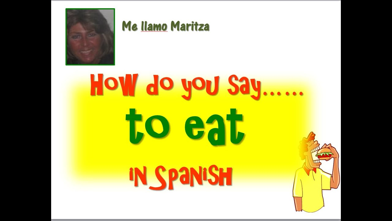 How Say Eat Spanish