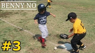 4 YEAR OLD PLAYS 1st BASE | BENNY NO | COACH PITCH/TEE BALL SERIES #3