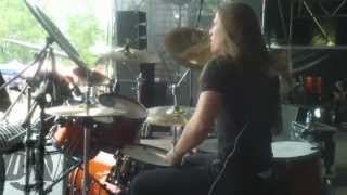 THE SIXPOUNDER@The Hourglass-Live METALFEST Poland 2013 (Drum Cam)