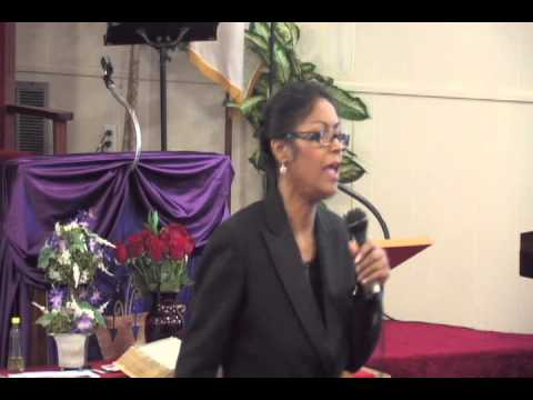 Day 2 Evangelist Denise Matthews (Vanity) speaks in Niceville Florida June 2013.