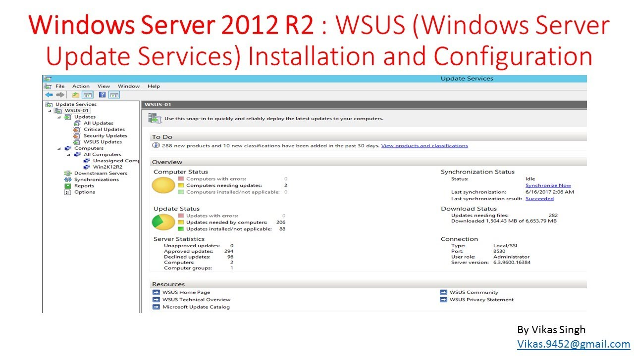Windows Server 2012 R2 : WSUS (Windows Server Update Services) Installation  and Configuration