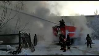 Пожар на Семена Данилова 12.01.2018