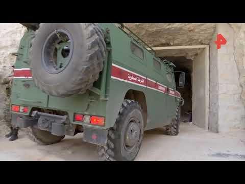Появилось видео из подземных укреплений террористов в Сирии.