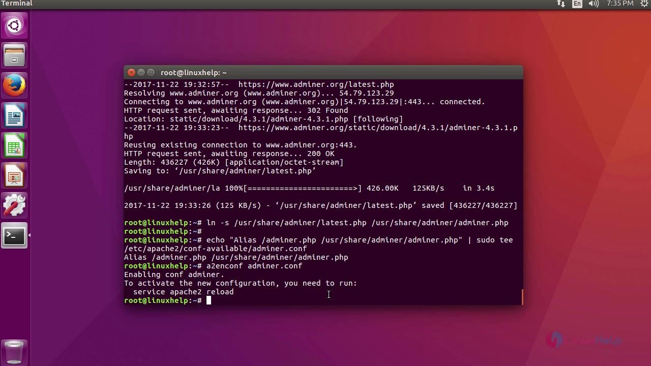 install phpmyadmin nginx ubuntu 17.10