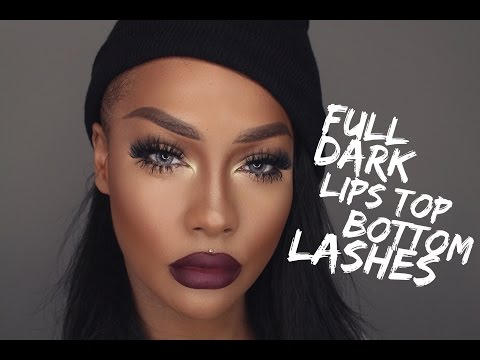 DARK FULL LIPS TOP & BOTTOM LASHES | SONJDRALDEUXE
