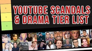 Youtube Scandals and Drama TIER LIST