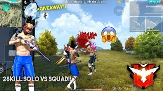 RUDI GMG NGAMUK DI RANK SOLO VS SQUAD KILL 28!! Garena Free Fire