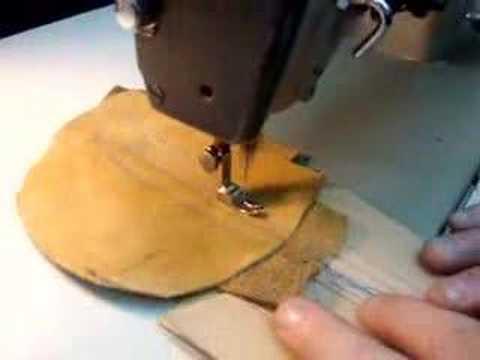 PFAFF 40 HeavyDuty Leather Industrial Sewing Machine YouTube New Glaco Industrial Sewing Machine