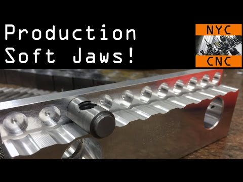 Machining Production Soft Jaws for DIY Clamp!  Widget78