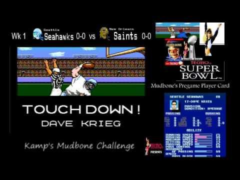 Tecmo Super Bowl Mudbone Challenge (Dave Krieg ftw)