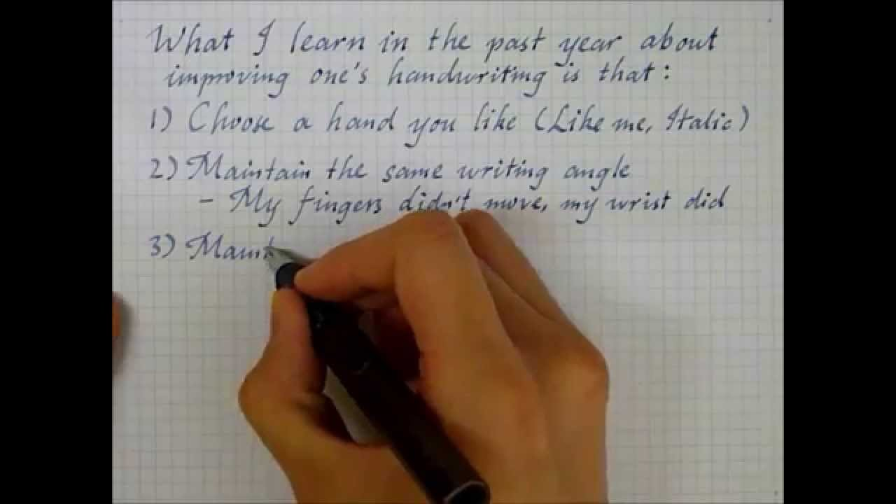 Printables World Best Hand Writing In English what i learned about handwriting improvement youtube improvement