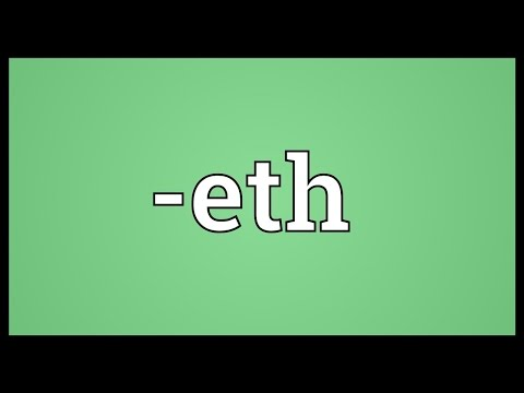 -eth Meaning
