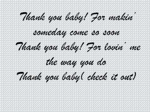 Thank you baby Shania Twain lyrics