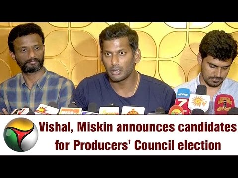 Live: Vishal, Miskin announces candidates for Producers' Council election