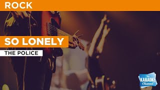 Gambar cover So Lonely : The Police | Karaoke with Lyrics