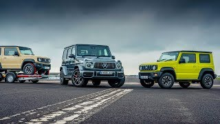 Mercedes AMG G63 & Trailer vs Suzuki Jimny | Drag Races | Top Gear