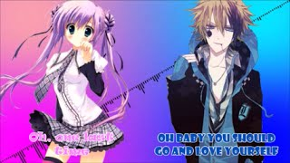 Nightcore- Love Yourself/One Last Time (Mashup) [Switching Voc…