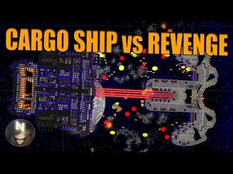 Cargo Ship VS Revenge. Cosmoteer