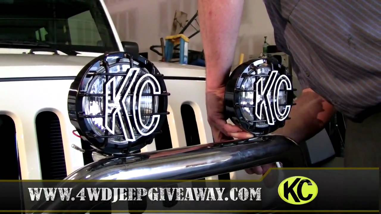 Jeep Lights Winner Installing Kc Hilites Slimlites Youtube Halogen Headlight Wiring Diagram