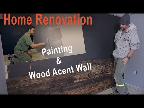 Home Renovations | Painting and Wood Accent Wall | DIY | VLOG#6