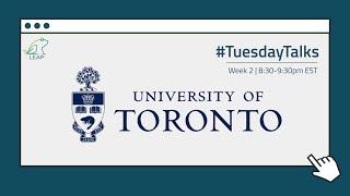Webinar 2: University of Toronto (Part 2) | July 14th, 2020