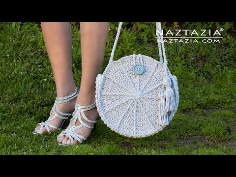 How to Crochet Lunaria Round Bag - Handbag and Purse by Naztazia