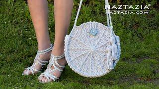 Zapętlaj How to Crochet Lunaria Round Bag - Handbag and Purse by Naztazia   naztazia