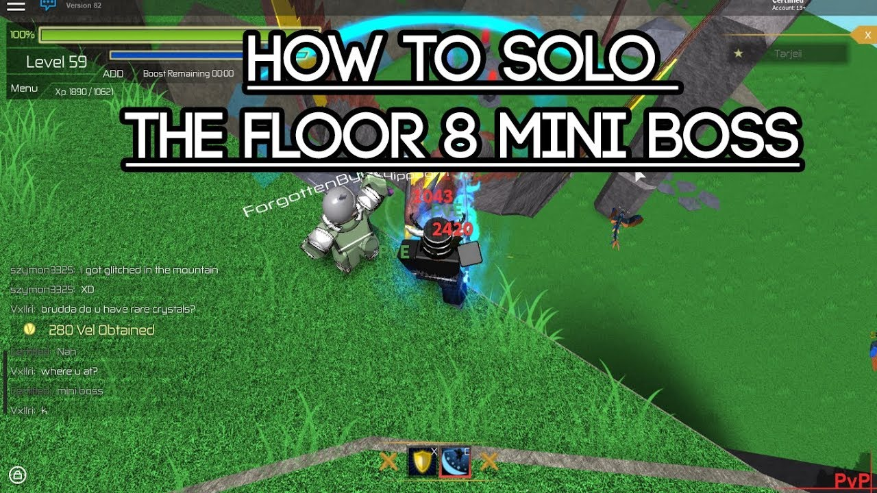 Roblox swordburst 2 how to solo kill the floor 8 mini for Floor 2 boss swordburst 2