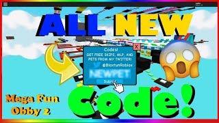 ✨Mega Fun Obby 2 New Code! (2019) | ROBLOX