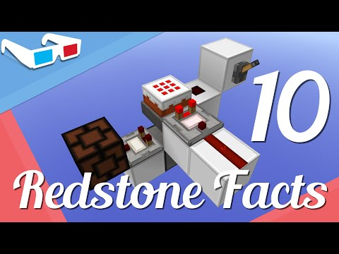 Minecraft - 10 Interesting/Obscure Redstone Facts And Tricks!