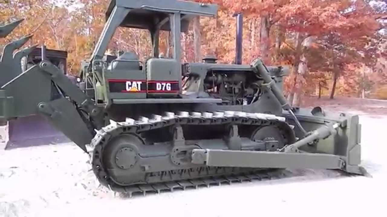 1989 Caterpillar D7G Dozer with ripper LOW HOURS!! Ex Military C&C  Equipment 812-336-2894