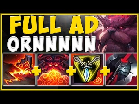 WTF RIOT! FULL AD BUILD ON ORNN IS ACTUALLY 100% GENIUS! ORNN S10 TOP GAMEPLAY! - League of Legends