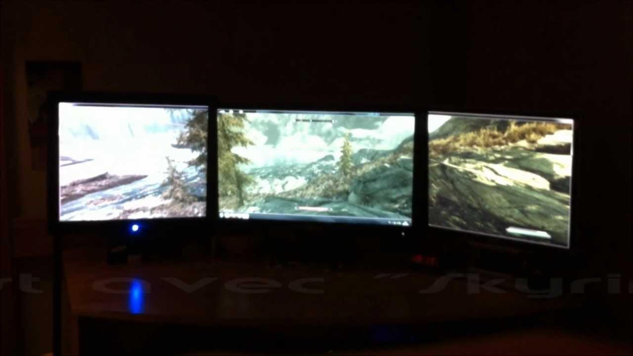 Pc gamer 3 ecrans 2012 youtube for Photo de ecran