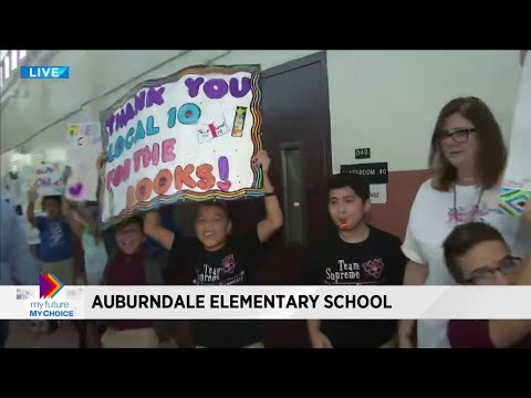 My Future My Choice Big Book Drive Stops At Auburndale Elementary School In Miami
