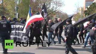 Germany: National Democratic Party march faces counter-protest in Schwerin