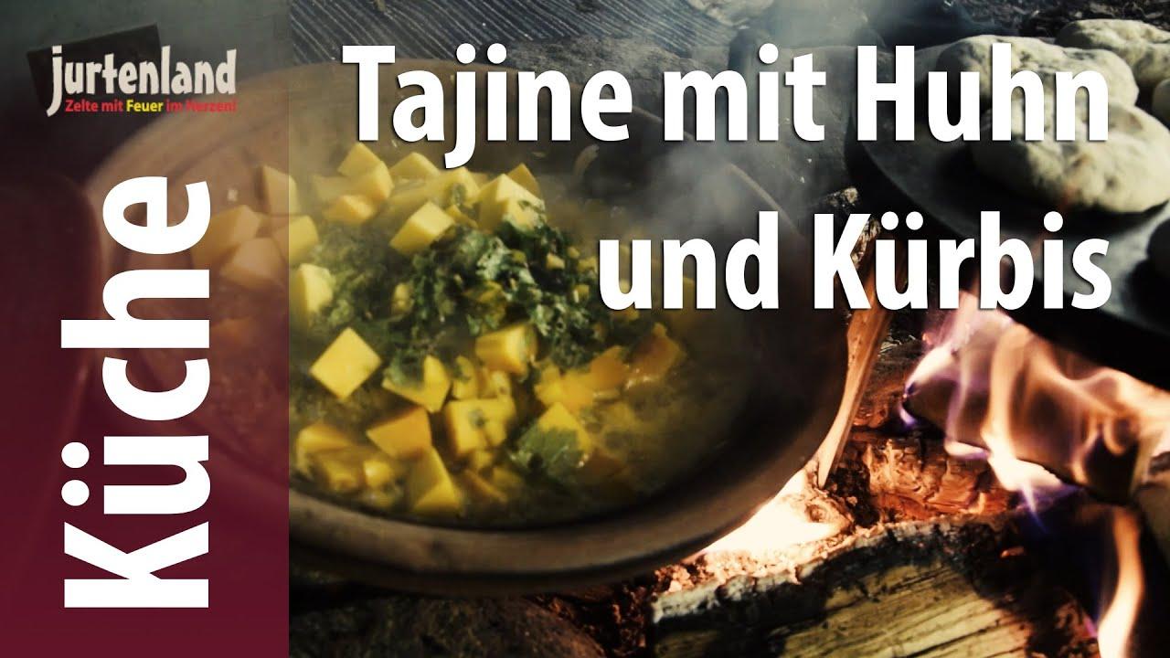 Kochen am Lagerfeuer - Tajine mit Huhn und Kürbis - Jurtenland - YouTube