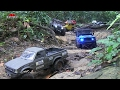 RC Toyota Hilux Scale Trucks Offroad Adventures  Land Rover Defender 110 Jeep Wrangler Trails!