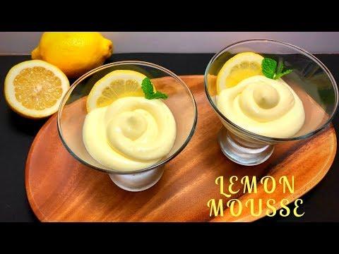 Lemon Mousse- Quick & Easy Lemon Mousse Recipe