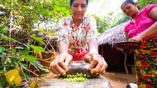 BEST COCONUT CHILI SAMBAL - Next Level Village Food in Sigiriya, Sri Lanka!