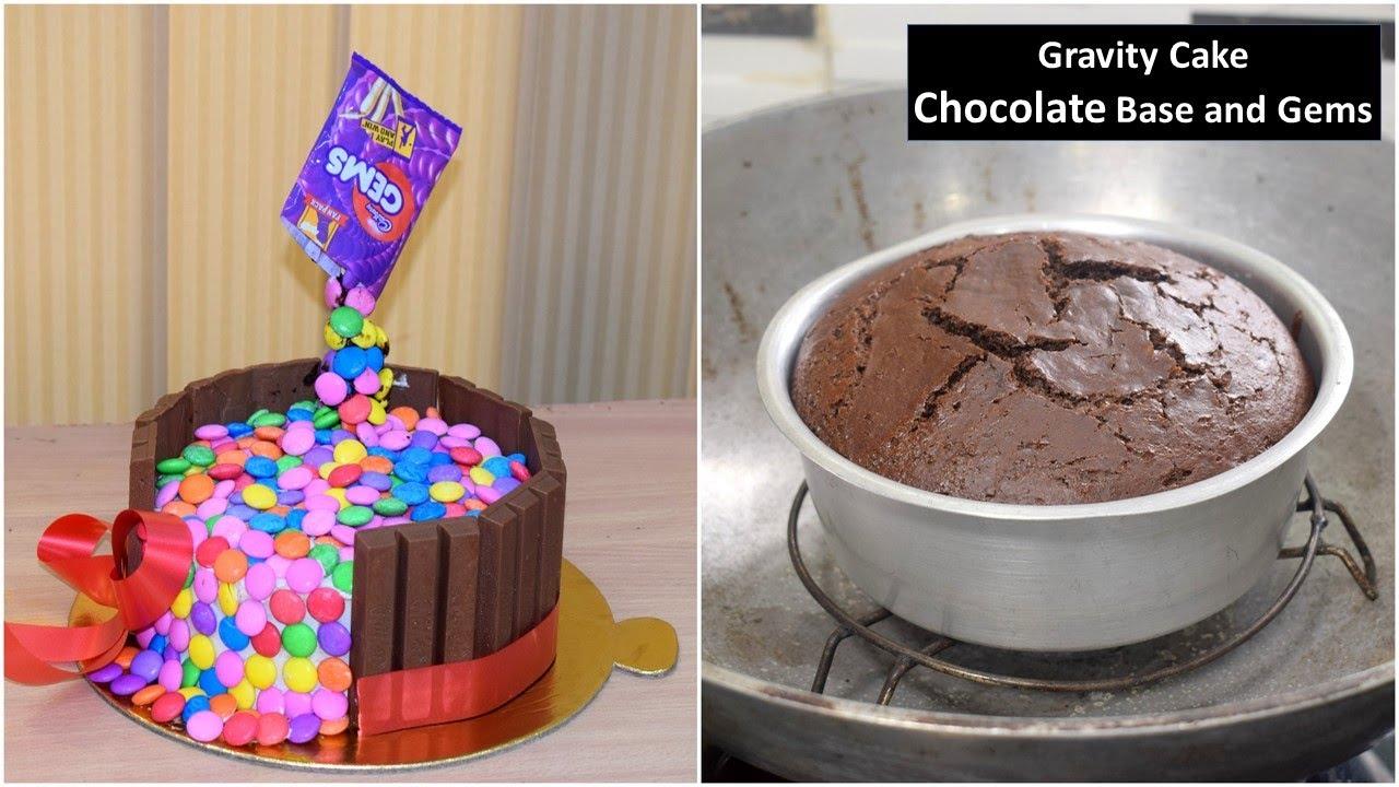 ऐसा केक जिसे देखके आपके होश उड़ जायेंगे बनाना बहोत ही आसान Gems Gravity Cake