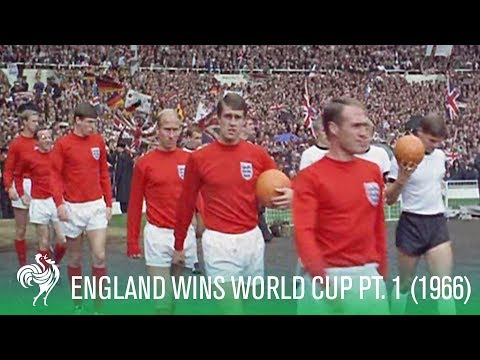 1966 World Cup Final (Part 1) - England beat West Germany (Excellent HD/Colour Footage)
