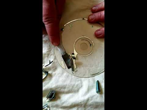 How to get silver part of cds off to make clear cd's