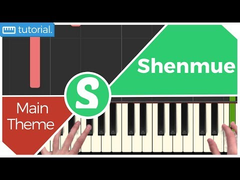 """How to play """"MAIN THEME"""" from Shenmue   (Synthesia) [Piano Video Tutorial] [HD]"""