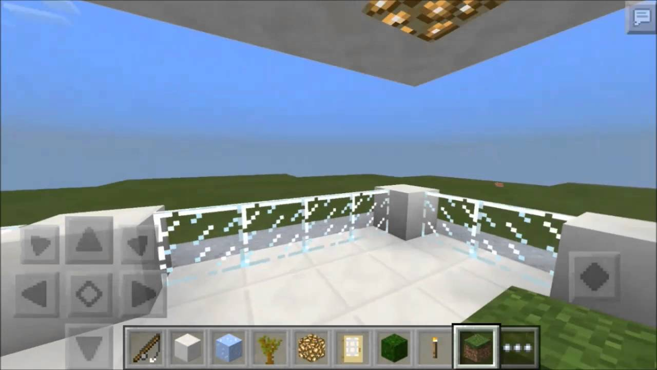 MINECRAFT Pocket Edition CREATING MODERN HOUSE without texture