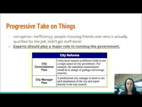 Progressivism Video 3, American History, Ms. Bryant