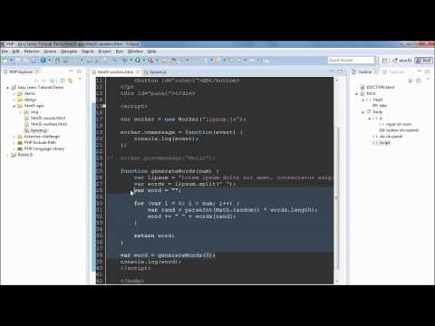 HTML5 Web Worker Tutorial #11 Example