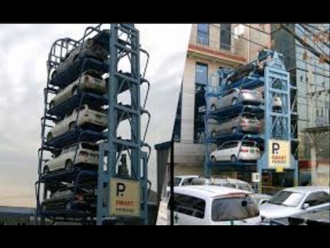 Vertical Car Parking -  big cities trafic possible solution