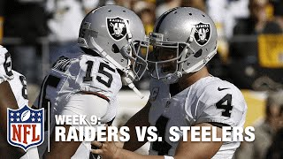 Michael Crabtree Stretches Out for an Amazing TD Catch! | Raiders vs. Steelers | NFL